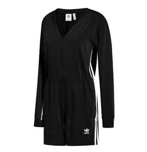 Adidas Originals Women's Mujer 3 stripes Jumpsuit Black Size M NEW🔥