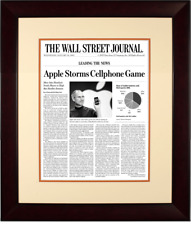 First iPhone Launch | The Wall Street Journal, Framed Article Reprint, Jan. 10,