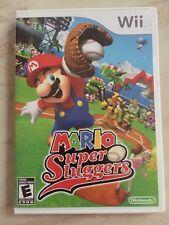 Mario Super Sluggers Nintendo Wii Game (Disc, Booklet, & Case)