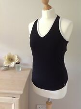 M&S View From Ladies Size 12 Support Sport Top - Black And White