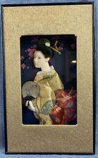 Handmade SHADOW BOX Art PICTURE Beautiful 3D Hanfu women from Tianjin China