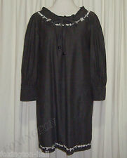 ZIMMERMANN DARK GREY EMBROIDERED DRESS/MATERNITY DRESS size 2 (AUS 12/14,US 6/8)