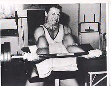 bodybuilder LARRY SCOTT Mr Olympia Workout Preacher Bench Curl Muscle Photo B&W