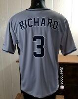 MLB San Diego Padres Baseball Fox Sports SGA Gray ADULT Jersey Richard #3 Sz XL