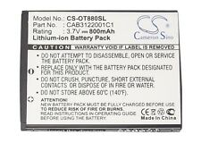Battery For ALCATEL A392, A392G, 2005D, 510A, 602, 710 Chrome, 768, 806, 807