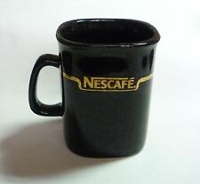 """NESCAFE COFFEE Vintage BLACK GOLD Mug Cup from MALAYSIA 3.5"""" Tall Nestle 2002"""