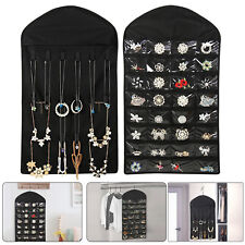Closet Hanging Jewelry Organizer Necklace Storage Holder Travel Display Case Bag