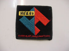 "vintage HEART BAND embroidered IRON PATCH  ROCK 1990'S - 3""X3"" LICENSED"