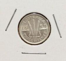 1959 Threepence  - aUNC
