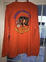 Vintage Union Local 185 Graphic Tee 2 Sided USA Made LS Shirt Men Xl Laborers