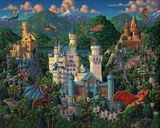 DOWDLE FOLK ART COLLECTORS JIGSAW PUZZLE IMAGINARY DRAGONS 500 PCS #00263
