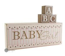 Shabby chic ' Baby Girl ' Nursery Plaque Decoration Gift CG411G