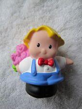 VALENTINE EDDIE w/ ROSES GIRLFRIEND Valentines Fisher Price Little People Rare!