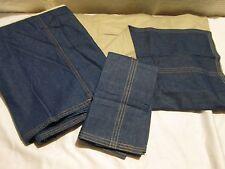 dockers blue jean twin bedskirt w/ matching sham