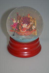 Neiman Marcus 1992 Musical Christmas Snow Globe Dept 56 Santa on Gondola Water