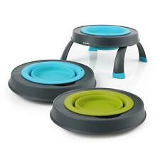 Dexas Collapsible Portable Food Water Bowl Raised Feeding Station Stand Dog Cat