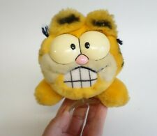 Vtg Garfield the Cat w/ Window Suction Cup Stuffed Plush Animal Toy 1978 1981
