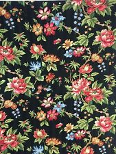 1 DRAPERY Panel Curtain Shower Curtain? Bright Florals Black Background 100 x 75