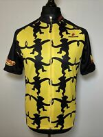 Hincapie Monkey Pattern Top Banana Cycling Jersey Short Sleeve Shirt 2007 XL VGC