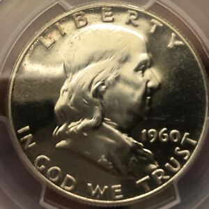 Beautiful 1960 Proof Franklin Half Dollar PCGS PR65