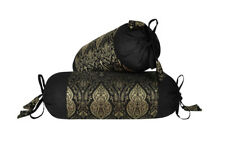 Home Decor Designer Cushion Brocade Bolster Pillow Covers Throw Round Cylinder