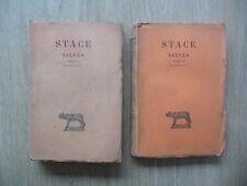 STACES / SILVES, Tomes 1 et 2  - Collection Guillaume Budé, 1944