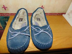 Clarks Ladies Slippers - Size UK 6.5 ish - Navy
