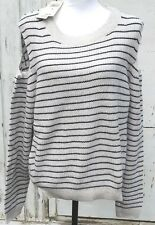 Lucky Brand Women's Size XL Cold Shoulder Stripe Pullover Sweater NWT $79.50 WP1