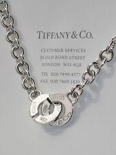 Tiffany & Co 1837 Cerchio Fermaglio Argento Sterling Collana