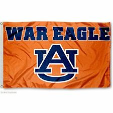 "AUBURN TIGERS FLAG 3'X5' AUBURN ""WAR EAGLE"" BANNER: FREE SHIPPING"