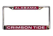 Alabama Crimson Tide LASER FRAME Chrome License Plate Tag Cover University of