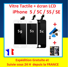 ECRAN LCD + VITRE TACTILE SUR CHASSIS POUR IPHONE 5 / 5S / 5C / SE NOIR ou BLANC