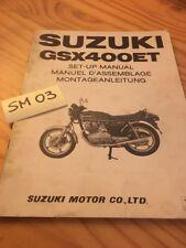 Suzuki GSX400ET GSX400 Y Instrucciones Preparation Instalacion Manual Montaje