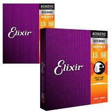 Elixir 11102 Bronze Nanoweb Acoustic Strings Medium TWIN PACK