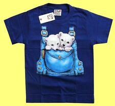 T-Shirt royal blau: Baby Eisbär, Gr. 146*152,10-12 J., Arktis Teddy Bär Icebear