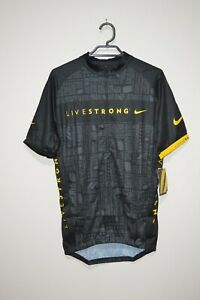 Authentic Nike Livestrong Cycling Jersey BNWT M Lance Armstrong Tour De France