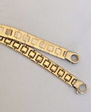 """Unisex  Solid 18K  GOLD bracelet 8 1/4"""" - 21 cm   Two tone MADE IN ITALY"""