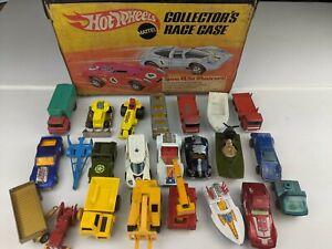 Mattel Collector's Race Case + 23 cars Matchbox /  Hot Wheels / Redline Seafire