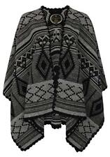 DreiMaster Women's Cape Damen Grey Poncho M/L  35436023