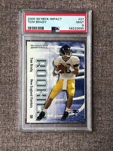 2000 Skybox Impact Tom Brady Rookie Card RC #27 PSA 9 Mint Patriots Bucs