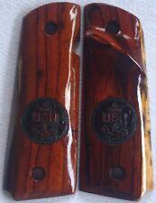 COLT 1911 TARGET GRIPS COLT FULL SIZE COCOBOLO ROOT LASER~CUT U.S.NAVY O-7