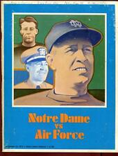College Football Program Notre Dame 1973 Air Force