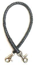 Black braided leather Heavy Duty Trucker Biker chain wallets made in USA