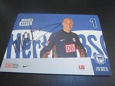 48842 maikel Aerts hertha bsc 2011-2012 Original con firma de autógrafos mapa