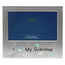 'I Love My Grandma'Satin silver photo frame-shudehill Giftware
