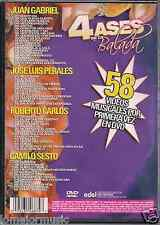 DVD 70 80's 4 ASES DE LA BALADA Perales CAMILO SESTO roberto carlos JUAN GABRIEL