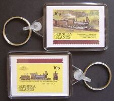 1866 Lehigh Valley Railroad CONSOLIDATION 2-8-0 Train Stamp Keyring (Loco 100)