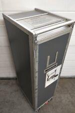 More details for original monarch grey galley catering waste bin trolley half gash cart wastebin