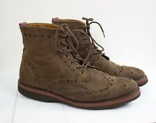 GBX Mens Suede Leather Ankle Brown Chukka Boots Sz 12