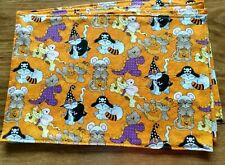 Halloween Cats Kittens Costumes Witches Pirates Set of  4 Rectangle Placemats